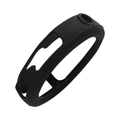 [3-Black] Case for Garmin Vivoactive 3, AKWOX [Shock-Proof][ Shatter-Resistant] Protective Band Cover Case for Garmin Vivoactive 3
