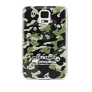 HP-Alivio Estilo camuflaje del ejército del patrón durable tapa dura para Samsung Galaxy S5