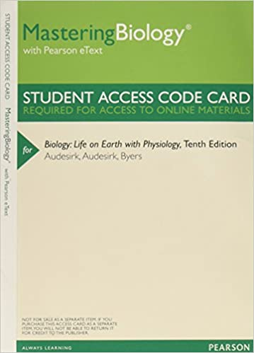 Amazon Masteringbiology With Pearson Etext Valuepack Access
