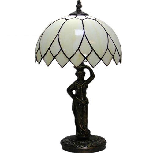 Tiffany Style Desk Lamp, Modern Minimalist Glass Lotus Table Lamp, Creative Table Lamp Decor Bedroom Wedding Room Living Table Light
