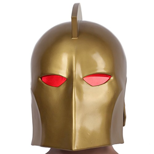 Dr Fate Cosplay Costume (Dr Fate Helmet Deluxe Resin Full Head Golden Cosplay LEDs Mask Xcoser)