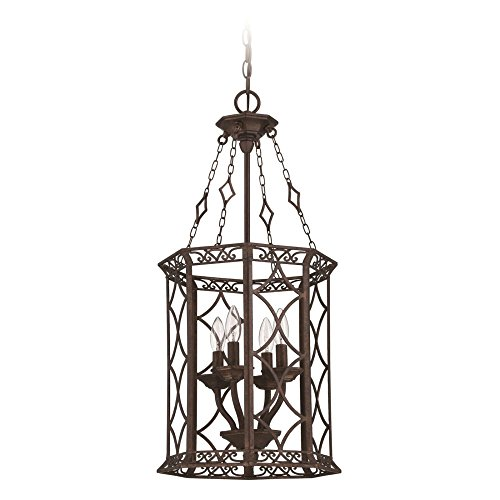 Jeremiah 36434-PR Evangeline 4 Light Foyer Chandelier, Peruvian Bronze