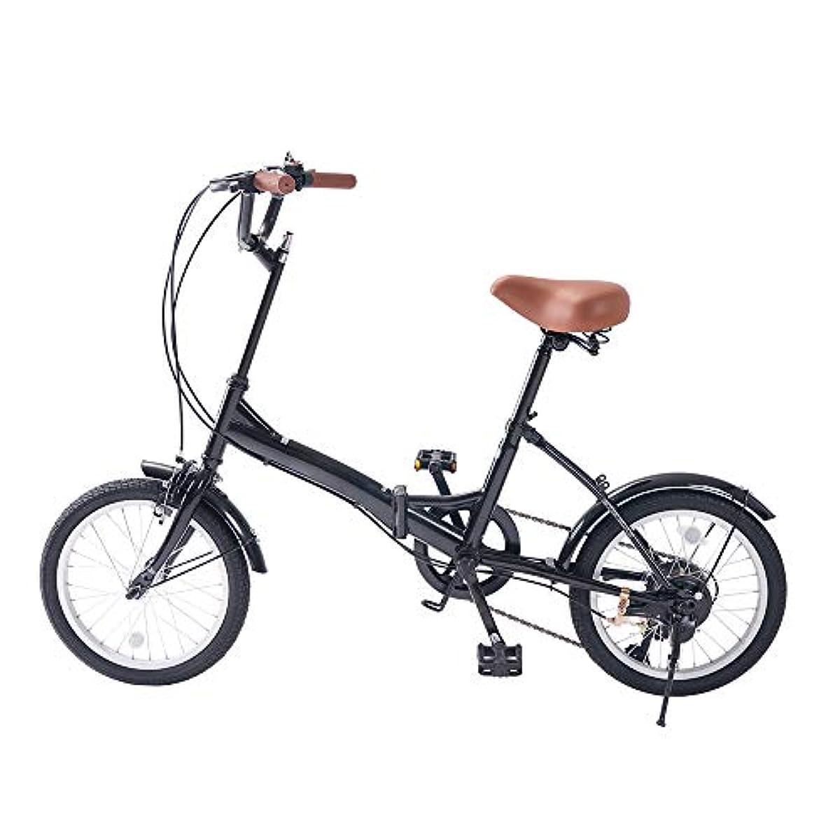 [해외] ZXCVD 자전거 접이식 자전거 6 속기어 16인치 미니 포터블 남자와녀 자전거 학생용 자전거 접이식 자전거 프론트와 리어의 매드 가이드