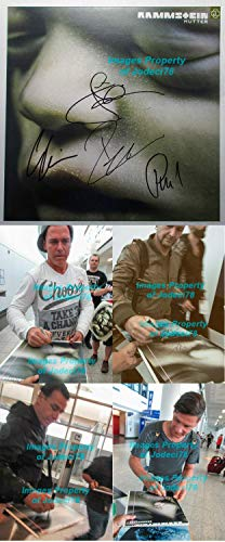Till Lindemann 3 Autographed Signed Memorabilia Rammstein Mutter 12 Album Photo Exact Proof JSA COA