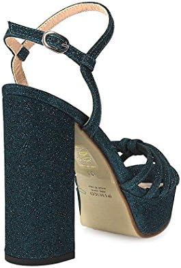 Pinko Champagne Glitter Blauw Groen Sandaal