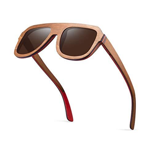PROSHADE Wood Sunglasses, Polarized Wooden Sun Glasses for Men & Women UV400 Protection ()
