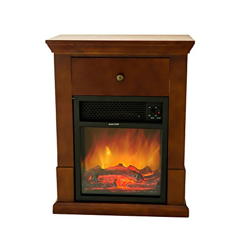 Flame Shade Electric Fireplace With Mantel Tv Stand Small