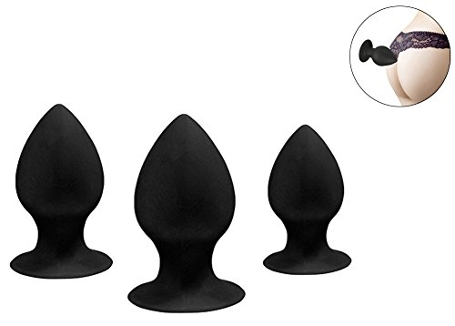 3Pcs Anal Plug Set,Medical Silicone Anal Pleasurable Butt Plug Sex Toy for Men and Women