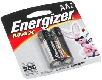 Energizer MAX Alkaline Batteries, AA, 2 Batteries/Pack