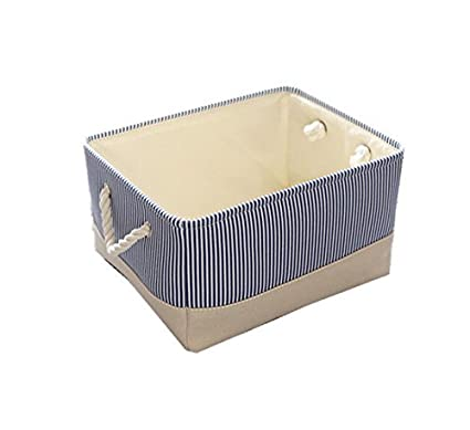 TheWarmHome Small Basket Canvas Basket Decorative Fabric Storage Basket for Toy Basket Clothes Storage Baby Basket  sc 1 st  Amazon.com & Amazon.com: TheWarmHome Small Basket Canvas Basket Decorative Fabric ...