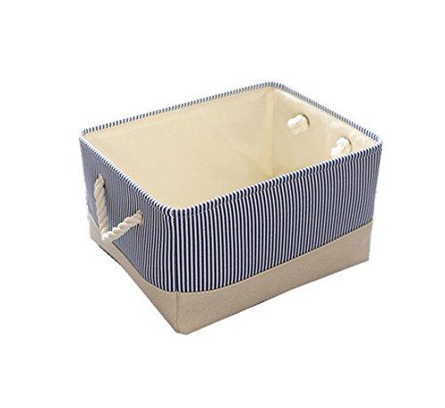 TheWarmHome Small Decorative Basket Fabric Storage Basket for Gifts,Cloth Baskets for Storage,Baby Basket for Nursery,Rectangle Toy Storage Basket