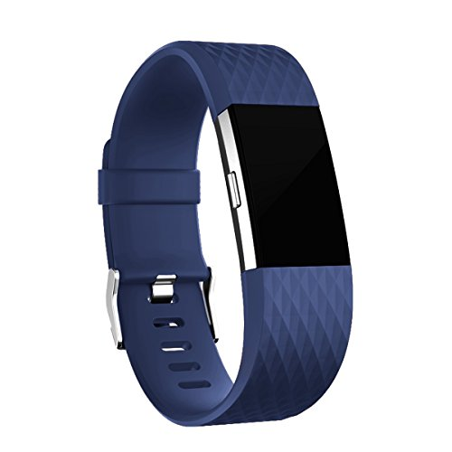 Geak Fitbit Charge 2 Bands, Special Edition Replacement Bands for Fitbit Charge2, Large Navyblue