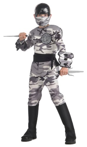 Child's Arctic Camo Ninja Costume,