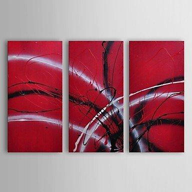 PINTURA al óleo moderna ShangdefengTM abstracta de guitarra eléctrica de escucha juego de 3 pintado a