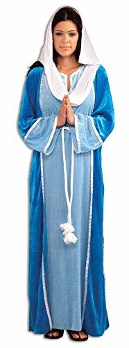 Deluxe Virgin Mary Costume Adult Women Veil Manger Christmas Velvet Manger Std (Mary Costume For Women)