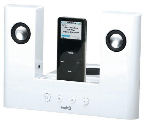 amazon com logic3 i station dock and speaker station for ipod home rh amazon com