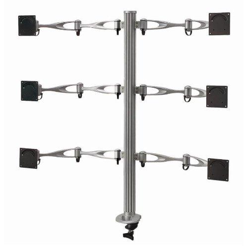 Cotytech Wandhalterung Sechs Monitor Tischhalterung mit Schaukel mit Klemmen-Sockel (DM - 61A3, C)