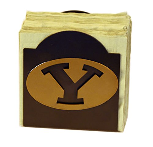 Henson Metal Works 506-44 Brigham Young Univ logo Classic Napkin Holder