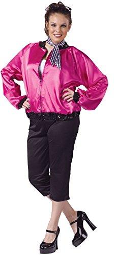 [Fun World Womens T-Bird Sweetie Adult Costume Plus (16-20W) Black] (Adult Tbird Sweetie 50s Costumes)