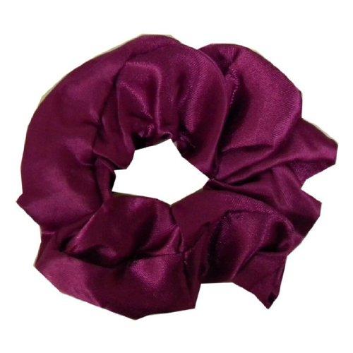Purple Satin-Look Scrunchie Pony Holder Hair Twister for Women and Girls (Keshet Accessories)