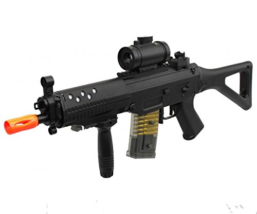 double eagle m82p full & semi automatic airsoft assault rifle laser sig 552(Airsoft Gun) ()