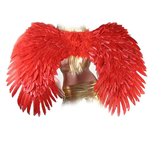 (SACASUSA Super Large Red Feather Angel wings men, women)