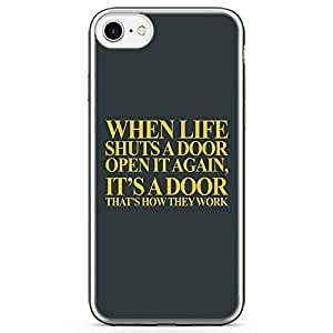 iPhone 7 Transparent Edge Phone Case Doors Phone Case Life Phone Case Move On Phone Case Breakup iPhone 7 Cover with Transparent Frame