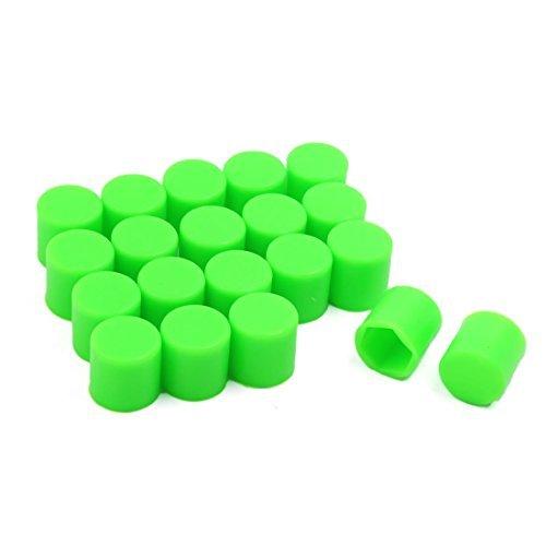 Roda Silicone DealMux 20 Pcs Green Car Lug porca e parafuso Covers Caps anticorrosivo 21 milímetros