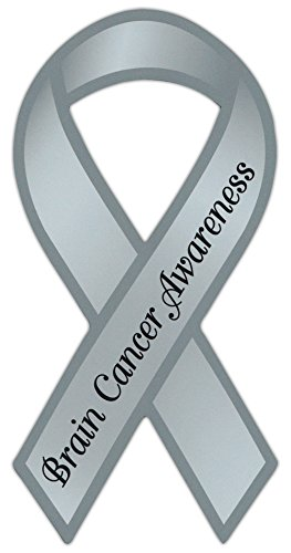- Ribbon Shaped Awareness Support Magnet - Brain Cancer - Cars, Trucks, Refrigerators