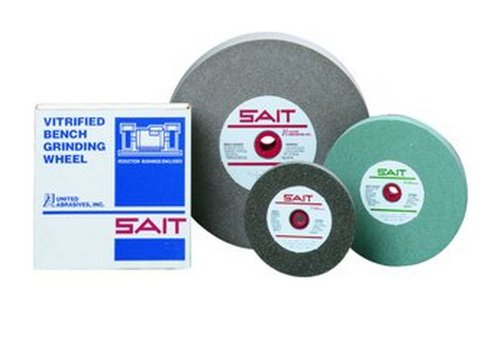United Abrasives-SAIT 28012 7 by 3/4 by 1 A80X Bench Grinding Wheel Vitrified, 1-Pack