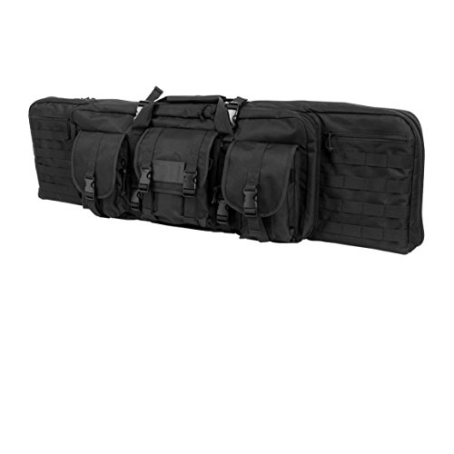 Weize 36 Inch Double Tactical Rifle Case Military Carbine Bag with Removable Padded Shoulder Strap