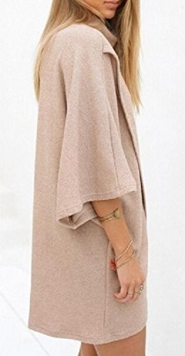 Solid Womens Colored Irregular Dress Baggy Coolred Vogue Picture Turtleneck Short As Xd6Ix5w