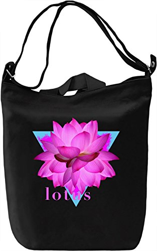 Lotus Borsa Giornaliera Canvas Canvas Day Bag| 100% Premium Cotton Canvas| DTG Printing|