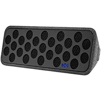 """House of Marley, Liberate Bluetooth Wireless Speaker, Integrated Mic for Use as Speaker Phone, Four 1"""" Speakers, Sustainably Crafted, EM-JA005-MI Midnight"""