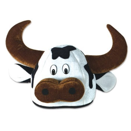[Beistle 137433 Cow Head Party Hat Adult] (Cow Head Hat Adult)