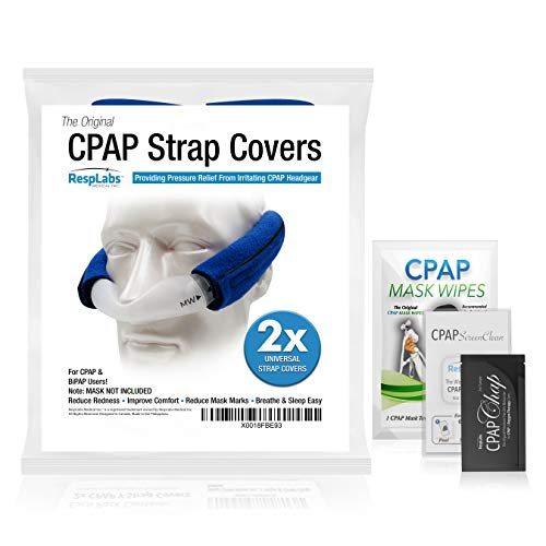 CPAP Headgear Strap Covers, Mask Pads - Universal 2 Pack | Extremely Comfortable Soft Fleece | Machine Accessories & Equipment Supplies by ()