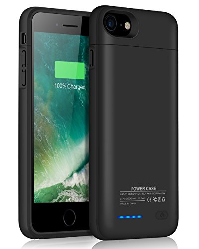 JUBOTY Fit iPhone 7 8 Battery Case/iPhone 6 6S Battery Case/3000mAh Slim Portable Charger Juice Power Bank Battery Backup Charging Case for iPhone 7 8-Build in Magnet