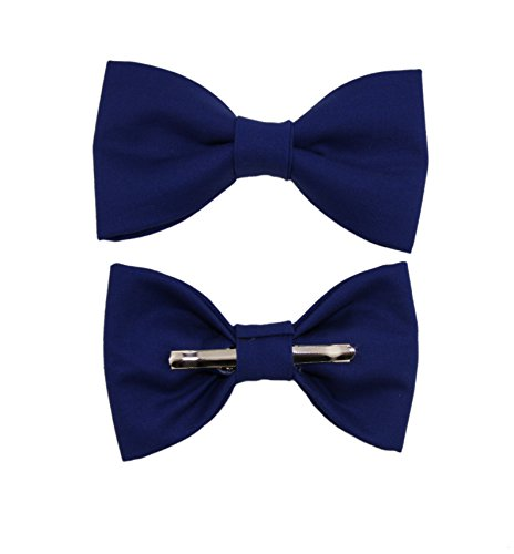 Toddler Boy 3T 4T Marine Blue Clip On Cotton Bow Tie