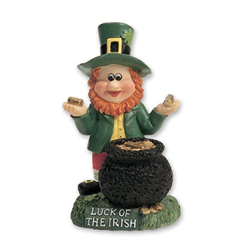 Carrolls Irish Gifts Miniature Leprechaun With Pot Of - Leprechaun Gold