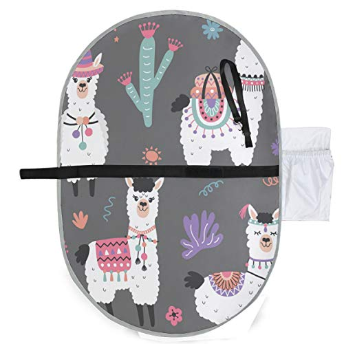 Llamas Waterproof Baby Changing Pad, Portable Diaper Changing Pad, Diaper Bag Mat, Foldable Travel Changing Station | Stroller Strap,Side Pocket for Wipes Diaper| for Infants & Newborns