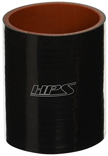 (HPS HTSC-300-L4-BLK Silicone High Temperature 4-ply Reinforced Straight Coupler Hose, 70 PSI Maximum Pressure, 4