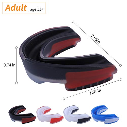 VZUOKUO Mouth Guard Sports,Adult Mouthguard Teeth Protection for Football,Boxing,Hockey,Wrestling,with Mouthguards Case