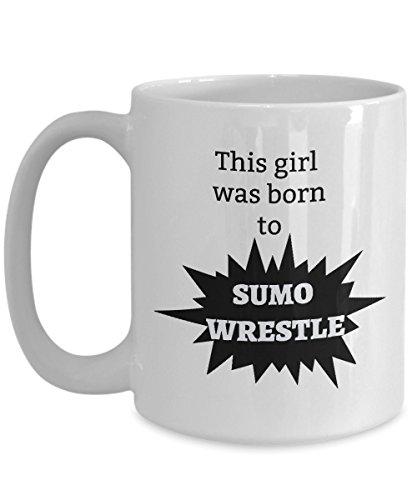 Sumo Wrestler Mug - Gift for Womens Sumo Wrestling - Girls Coffee]()