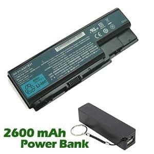 Battpit Bateria de repuesto para portátiles Acer Aspire 8920-6961 (4400mah / 65wh) con 2600mAh Banco de energía / batería externa (negro) para Smartphone