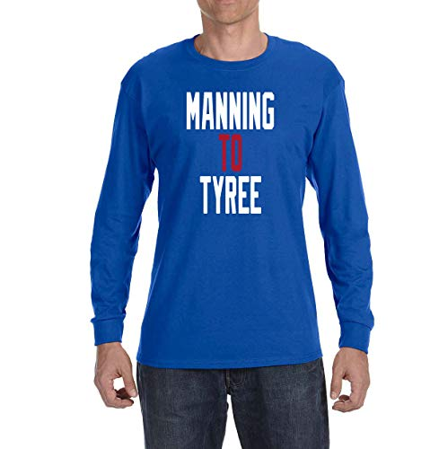 - Tobin Clothing Blue New York Manning to Tyree Long Sleeve Shirt Adult 2XL