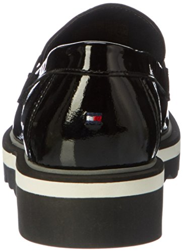 Tommy Hilfiger Women's P1285aulina 3p Loafers Black FlKam7jQT