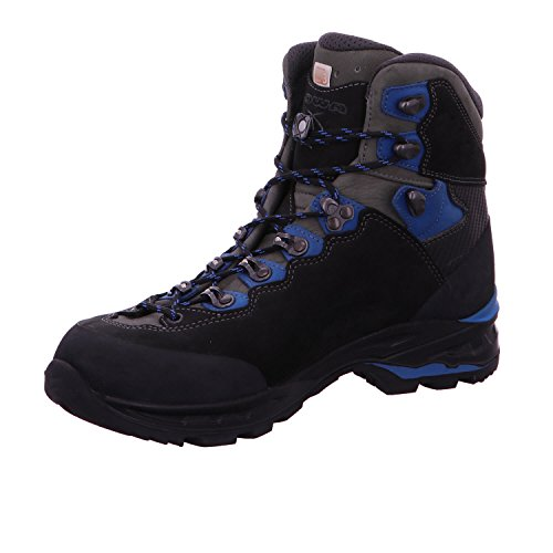 Lowa Camino GTX Walking Boots, 210 644 9940, Black/blue