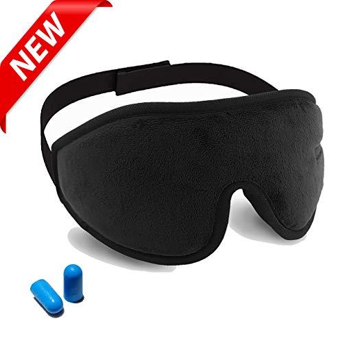 Eye Mask for Sleeping, Als Ellan 3D Sleep Sleeping Mask & Blindfold 100% Blockout Light Memory Foam Eye Cover Comfortable Blindfold for Men Women Travel, Shift Work, Naps - Include ()