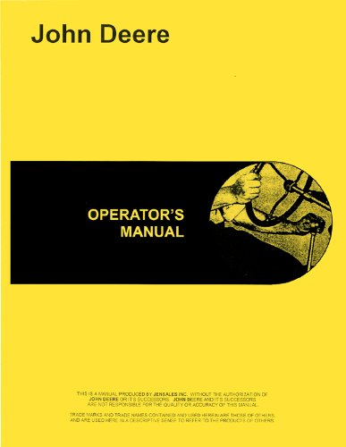 John Deere 60 Tractor Operators Manual (SN# 6000001-6199999)
