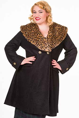 Banned-Vintage-PLUS-SIZE-Coat-Black-or-Red-2XL-4XL